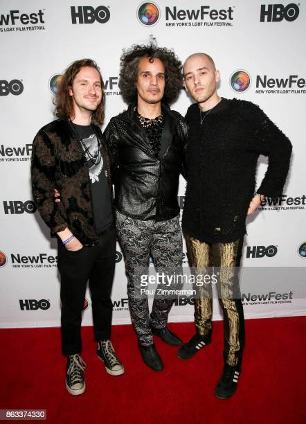 AlexHector Xtravaganza and Anthony attend NewFest 2017 Opening Night Susanne Bartsch On Top at SVA Theater on October 19 2017 in New York City