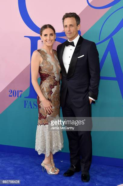 Alexi Ashe and host Seth Meyers attend the 2017 CFDA Fashion Awards at Hammerstein Ballroom on June 5 2017 in New York City