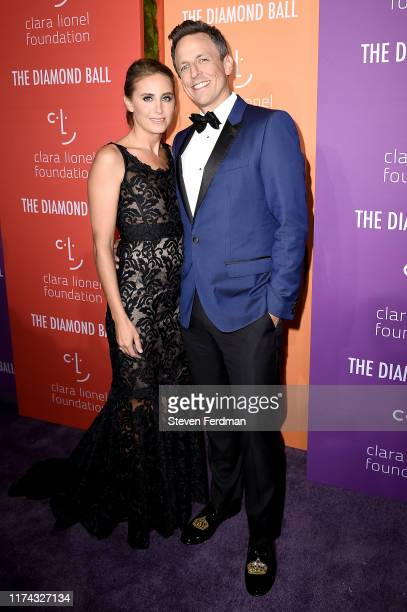 Alexi Ashe and Seth Meyers attend Rihanna's 5th Annual Diamond Ball at Cipriani Wall Street on September 12 2019 in New York City