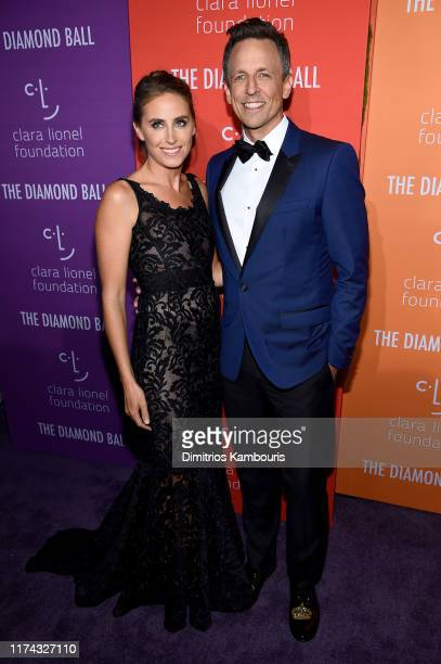 Alexi Ashe and Seth Meyers attend Rihanna's 5th Annual Diamond Ball Benefitting The Clara Lionel Foundation at Cipriani Wall Street on September 12...