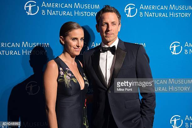 Alexi Ashe and Seth Meyers attend the 2016 American Museum Of Natural History Museum Gala at American Museum of Natural History on November 17 2016...