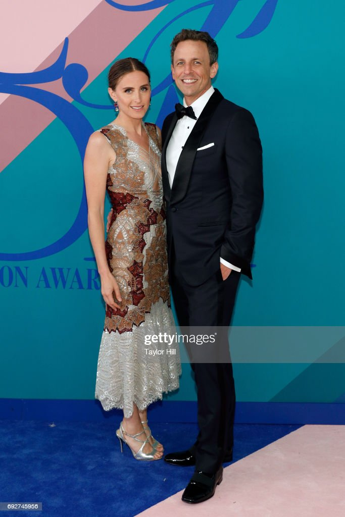Alexi Ashe and Seth Meyers attend the 2017 CFDA Fashion Awards at Hammerstein Ballroom on June 5, 2017 in New York City.