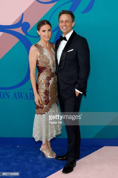 Alexi Ashe and Seth Meyers attend the 2017 CFDA Fashion Awards at Hammerstein Ballroom on June 5 2017 in New York City