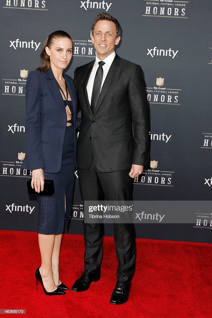 Alexi Ashe and Seth Meyers attend the 4th Annual NFL Honors at Phoenix Convention Center on January 31, 2015 in Phoenix, Arizona.