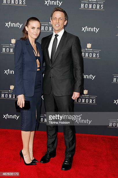 Alexi Ashe and Seth Meyers attend the 4th Annual NFL Honors at Phoenix Convention Center on January 31 2015 in Phoenix Arizona