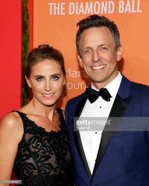 Alexi Ashe and Seth Meyers attend the 5th Annual Diamond Ball benefiting the Clara Lionel Foundation at Cipriani Wall Street on September 12 2019 in...