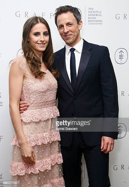 Alexi Ashe and Seth Meyers attend the 7th Annual Society Of Memorial Sloan Kettering Spring Ball at The Waldorf=Astoria on May 13 2014 in New York...