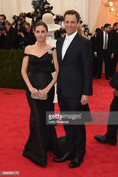 Alexi Ashe and Seth Meyers attend the Charles James Beyond Fashion Costume Institute Gala at the Metropolitan Museum of Art on May 5 2014 in New York...