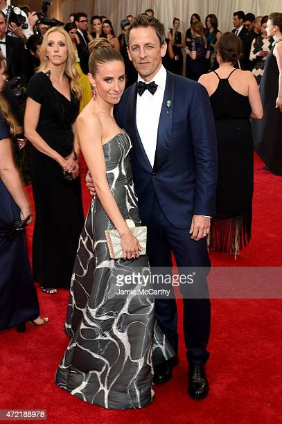 Alexi Ashe and Seth Meyers attend the China Through The Looking Glass Costume Institute Benefit Gala at the Metropolitan Museum of Art on May 4 2015...