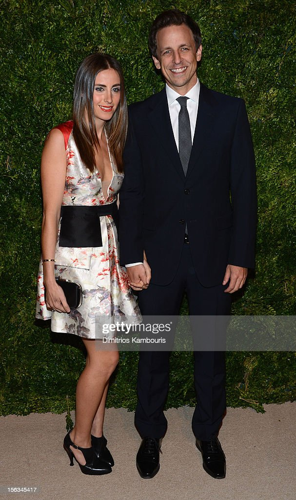 Alexi Ashe and Seth Meyers attend The Ninth Annual CFDA/Vogue Fashion Fund Awards at 548 West 22nd Street on November 13, 2012 in New York City.