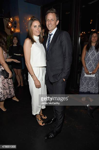 Alexi Ashe and Seth Meyers attend the Seth Meyers With The Orchard And The Cinema Society Host A Special Screening Of Cartel Land after party at...