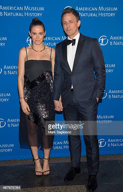 Alexi Ashe and Television Personality Seth Meyers attends the 2015 American Museum Of Natural History Museum Gala at American Museum of Natural...