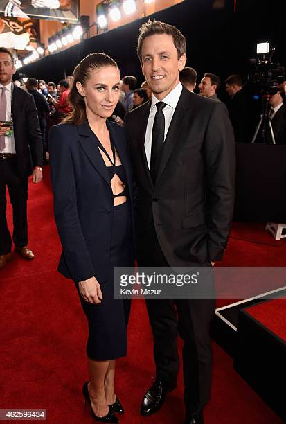 Alexi Ashe and TV personality Seth Meyers attend the 4th Annual NFL Honors at Phoenix Convention Center on January 31 2015 in Phoenix Arizona