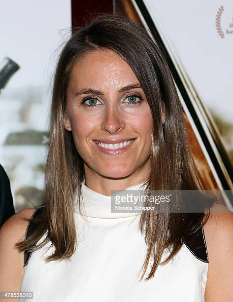 Alexi Ashe attends Seth Meyers With The Orchard The Cinema Society Host A Special Screening Of Cartel Land at Tribeca Grand Screening Room on June 25...