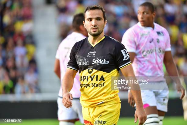 Alexi Bales of La Rochelle during the preseason friendly match between La Rochelle and Stade Francais on August 10 2018 in La Rochelle France