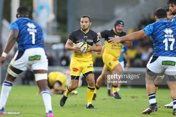 Alexi Bales of La Rochelle during the test match between La Rochelle and SU Agen on August 17 2018 in La Rochelle France