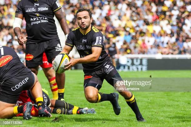 Alexi Bales of La Rochelle during the Top 14 match between La Rochelle and Perpignan at Stade MarcelDeflandre on September 16 2018 in La Rochelle...
