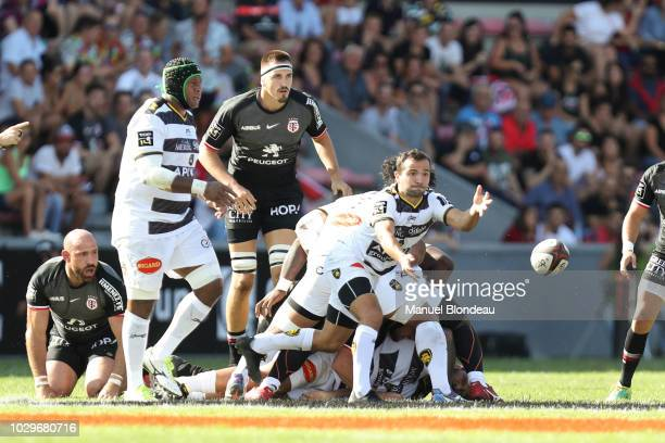 Alexi Bales of La Rochelle during the Top 14 match between Toulouse and La Rochelle at Stade Ernest Wallon on September 8 2018 in Toulouse France