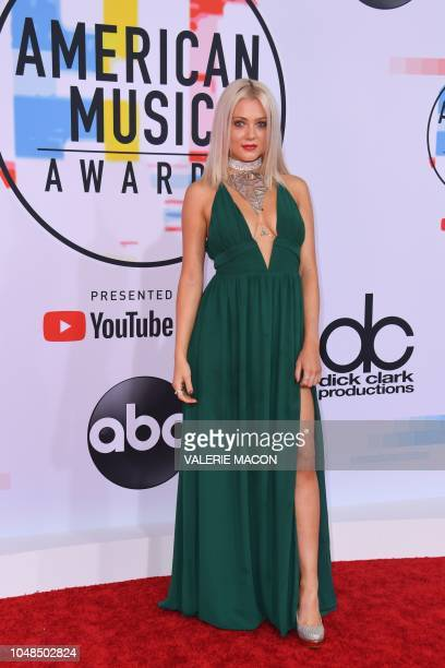 Alexi Blue arrives at the 2018 American Music Awards on October 9 in Los Angeles California