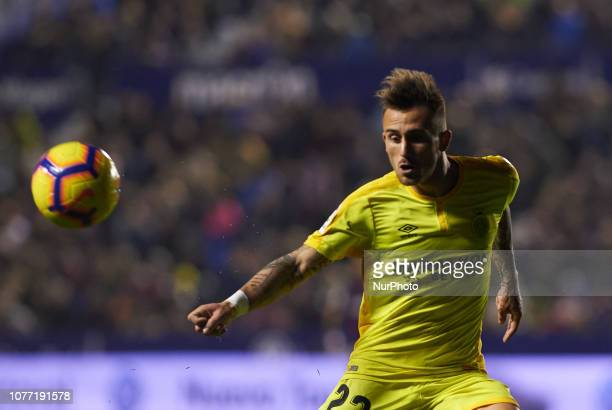 Alexi Garcia of Girona during the La Liga match between Levante and Girona at Ciutat de Valencia Stadium on Jenuary 4 2019 in Valencia Spain