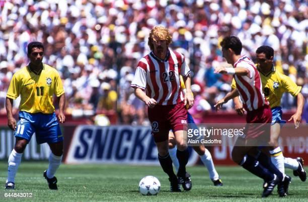 Alexi LALAS Bresil / Etats Unis 1/8Finale Coupe du Monde 1994 Photo Alain Gadoffre / Icon Sport