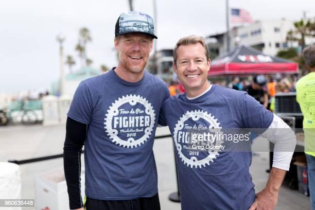 Alexi Lalas and Rob Stone attend the 6th Annual Tour de Pier at Manhattan Beach Pier on May 20 2018 in Manhattan Beach California