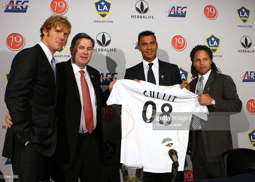 LA Galaxy Introduces New Head Coach Ruud Gullit : News Photo