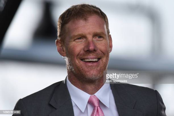Alexi Lalas former USA international player and current analyst during the international friendly match between USA and Costa Rica at Avaya Stadium...
