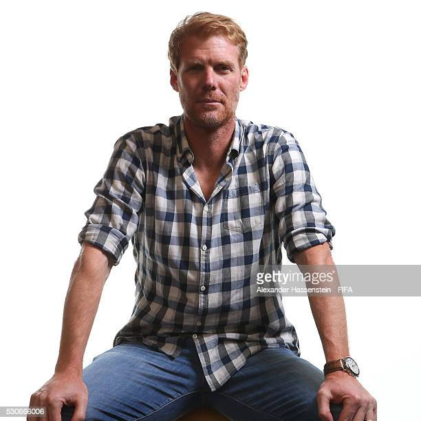 Alexi Lalas poses for a picture ahead of the 66th FIFA Congress at Presidente InterContinental Hotel Mexico City on May 11 2016 in Mexico City