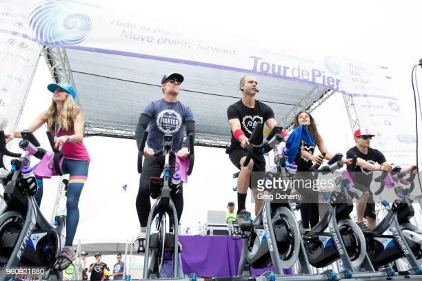 Alexi Lalas rides at the 6th Annual Tour de Pier at Manhattan Beach Pier on May 20 2018 in Manhattan Beach California