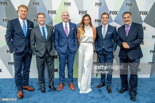 Alexi Lalas Rob Stone John Strong Kate Abdo Stuart Holden and Fernando Fiore attend the 2018 Fox Network Upfront at Wollman Rink Central Park on May...