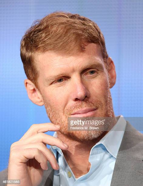 Alexi Lalas soccer studio analyst and US Men's National Team defender during the 1994 FIFA World Cup speaks onstage during the '2013 FIFA World Cup...