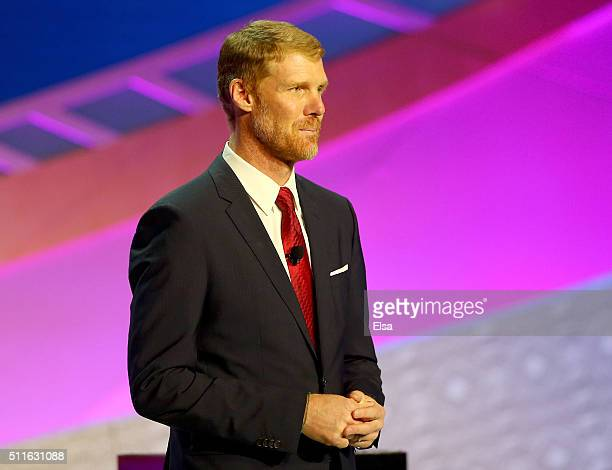 Alexi Lalas speaks during the 2016 Copa America Centenario Draw Ceremony at Hammerstein Ballroom on February 21 2016 in New York City