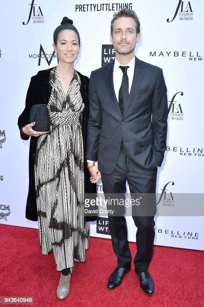 Alexi Lubomirski and Guest attend The Daily Front Row's 4th Annual Fashion Los Angeles Awards Arrivals at The Beverly Hills Hotel on April 8 2018 in...