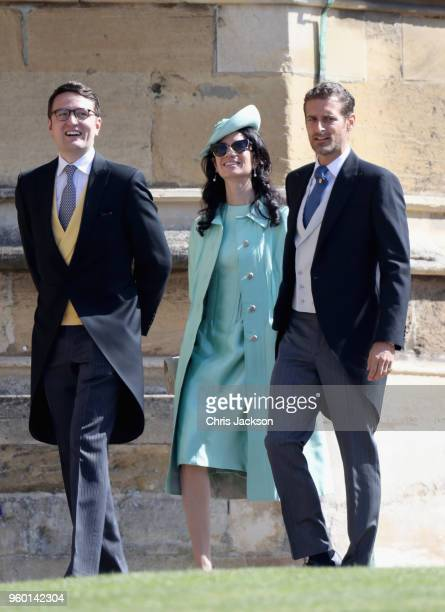 Alexi Lubomirski and his wife Giada arrive at the wedding of Prince Harry to Ms Meghan Markle at St George's Chapel Windsor Castle on May 19 2018 in...