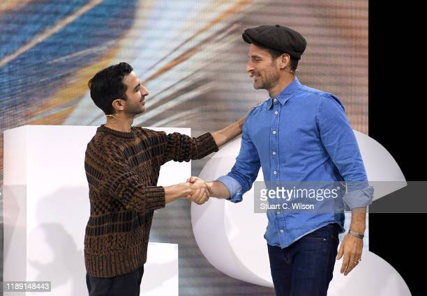 Alexi Lubomirski and Imran Amed on stage during #BoFVOICES on November 21, 2019 in Oxfordshire, England.