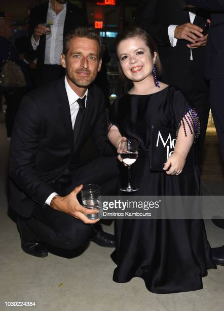 Alexi Lubomirski and Sinead Burke attend the #BoF500 gala dinner during New York Fashion Week Spring/Summer 2019 at 1 Hotel Brooklyn Bridge on...