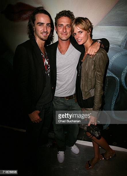 Alexi Lubomirski Jacquetta Wheeler and a friend attend the Prada Epicenter store for a special VIP performance by The Raconteurs on September 8 2006...