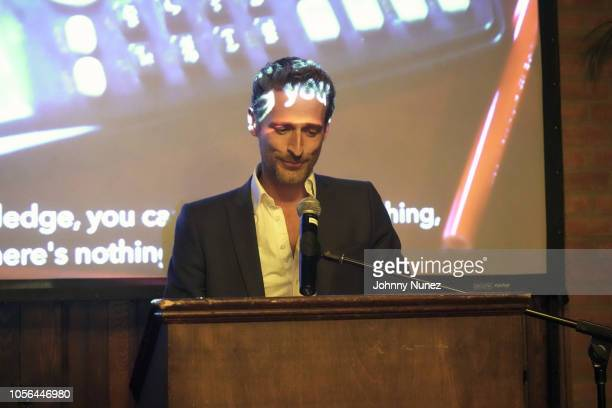 Alexi Lubomirski speaks at the Mercado Global Fashion Forward Celebration at The Bowery Hotel on November 1 2018 in New York City