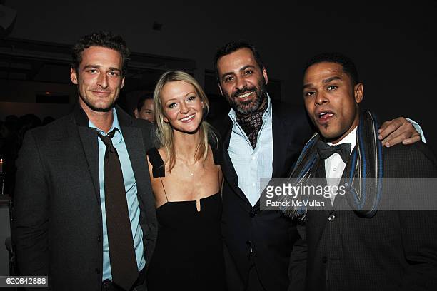 Alexi Lubomirski Zanna Roberts Mazdack Rassi and Maxwell attend MARIE CLAIRE Magazine Dinner at MILK Studio Penthouse on January 23 2008 in New York...