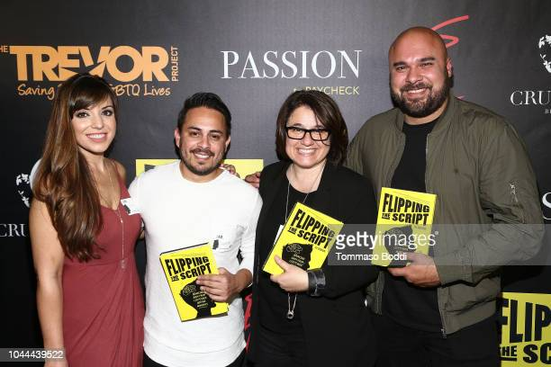 Alexi Mazaveos Rika Camiziano Michael Alvarado and Megan Silva attend the Crustacean Beverly Hills Hosts AJ Gibson's 'Flipping The Script' Book...