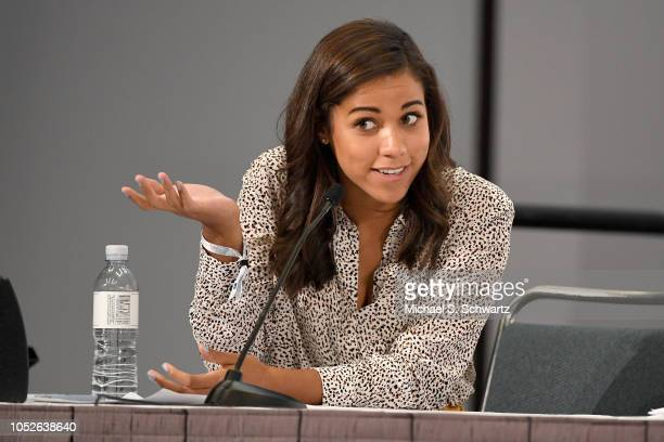 Alexi McCammond speaks onstage at Politicon 2018 at Los Angeles Convention Center on October 20 2018 in Los Angeles California