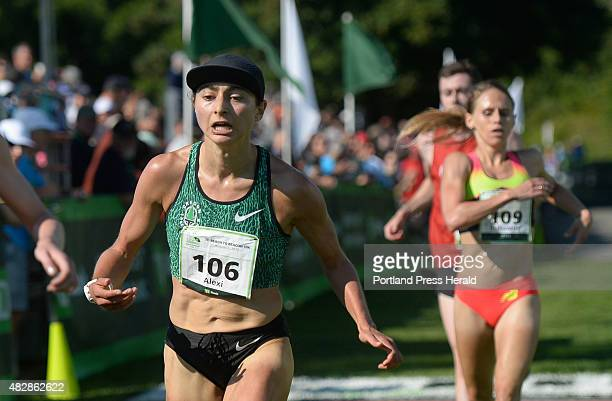 Alexi Pappas is the first American woman to cross the finish line of the TD Beach to Beacon 10K Saturday August 1 2015