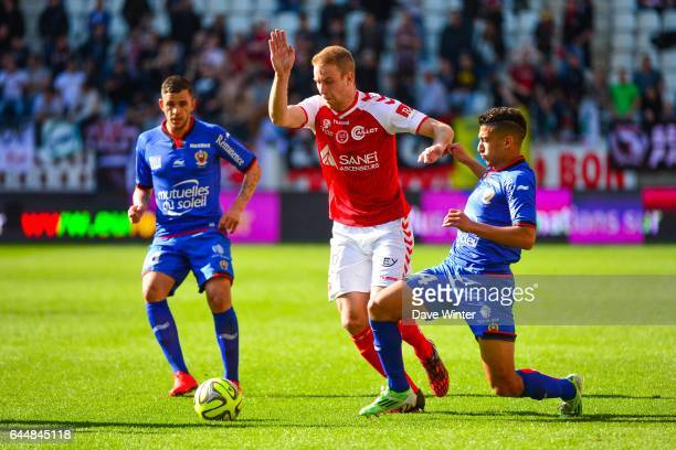 Alexi PEUGET / Mohamed Said BENRAHMA Reims / Nice 32eme journee de Ligue 1 Photo Dave Winter / Icon Sport