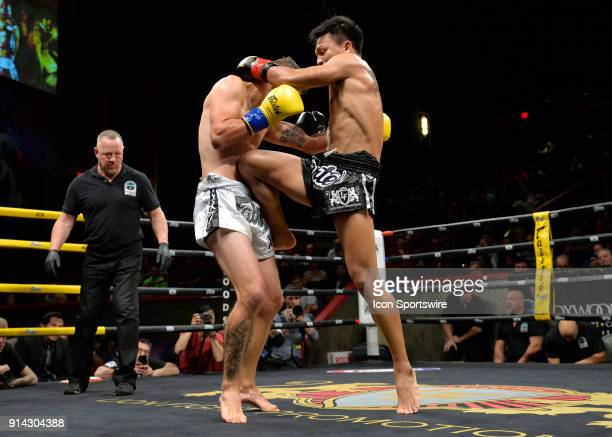 Alexi Serepisos takes on Lerdsila Chumpairtour in a World Lightweight Title bout on February 3 2018 at Lion Fight 40 at the Fox Theater of Foxwoods...