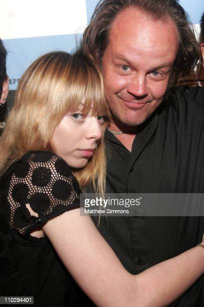 Alexi Wasser and Larry Fessenden director during 2007 Los Angeles Film Festival 'The Last Winter' at West Los Angeles in Los Angeles California...