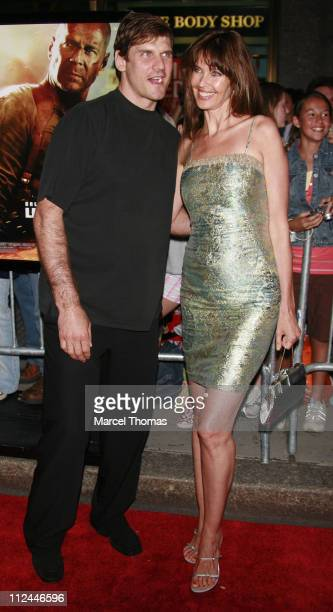 Alexi Yoshin and Carol Alt during Live Free or Die Hard New York City Primiere Arrivals at Radio City Music Hall at 1260 Avenue of the Americas in...