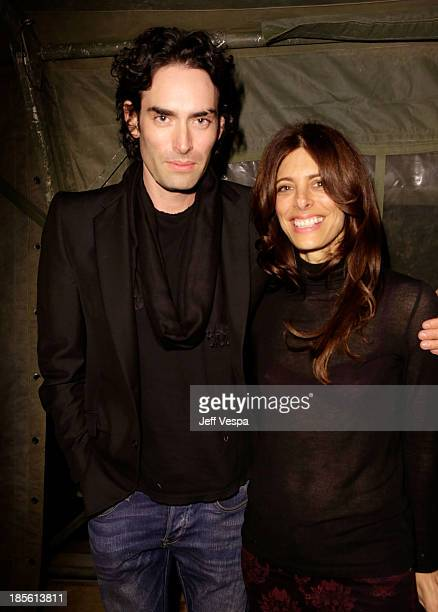 Alexi Yulish and Renee Chabria attend Barneys New York Marc Forster Katherine Ross' celebration of Greg Lauren's New Designer Fragrance at The Lot on...