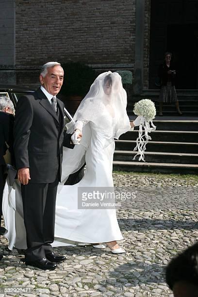 Alexia Aquilani during The Wedding of Alexia Aquilani and Andrea Camerana October 9 2005 at Castello di Rivalta in Castello di Rivalta Piacenza Italy
