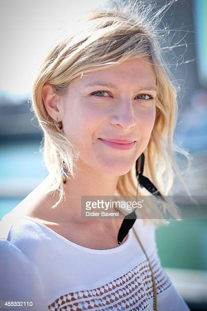 Alexia Barlier attends the photocall of 'Falco' as part of 16th Festival of TV Fiction of La Rochelle on September 12 2014 in La Rochelle France